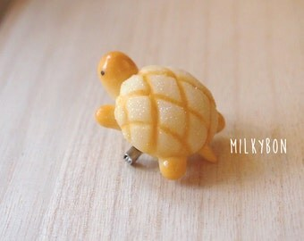 Cute Meronpan Melon Sweet Bread Turtle Pin