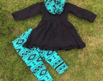 Aztec green and blk 3-pc set