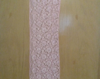 Clearance was 40 now 30. 80s/90s NWT Vintage Pink Lace Scarf