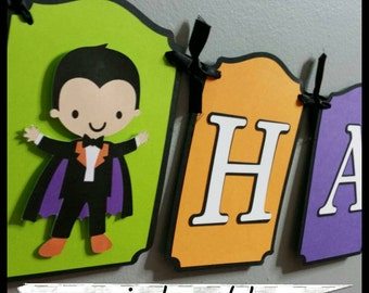 Zombie/ Halloween Party Banner, Halloween Banner, Skeleton Banner, Dracula Banner