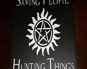John Winchester's Journal - Supernatural Journal - Dean Winchester - Sam Winchester - Castiel - Crowley - Leather Journal