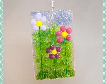 Flower, Fused Glass Suncatcher, Light Catcher, Fused Glass Art, Fused Glass, Fused Glass Wall Art, Suncatcher, Minerva Hot Glass