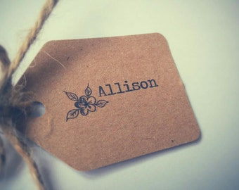 Rustic personalised names tags, place settings, gift tags, place cards