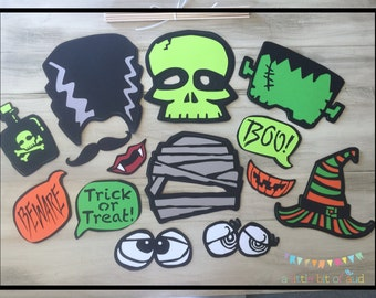 Halloween Photo Booth Props, Halloween Photo Props, Halloween Party Decorations, Halloween Party Props, Halloween Party Supplies