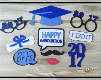 Graduation Props, Graduation Party Decorations, Graduation Photo Booth Props, Graduation Decorations, Graduation Party Table Centerpieces