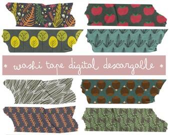 Digital washi tape to download