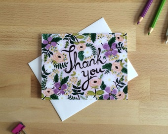 Greeting Card - Thank You - Wild Flower Thank You