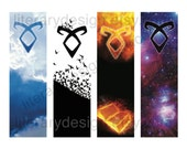 Mortal Instruments Printable Bookmark VIRTUAL DL - Angelic Power Rune - Cassandra Clare - The Infernal Devices - Book lover gift - book gift