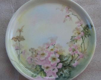 VINTAGE Haviland Limoges France Hand Painted Wild Flowers Signed Plate