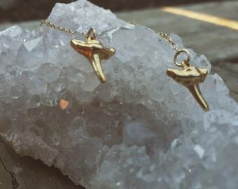 Chain and Teeth Earrings