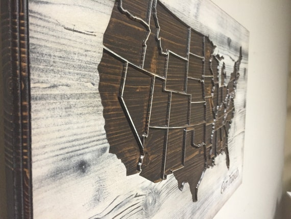 United States Wall Art rustic united states map wood map wall art carved us map