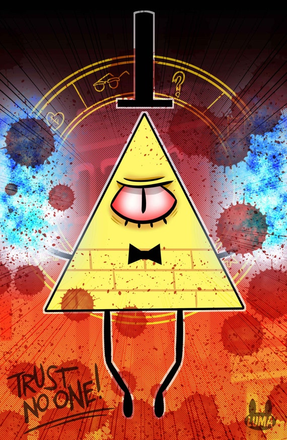 Bill Cipher - Gravity Falls 11X17