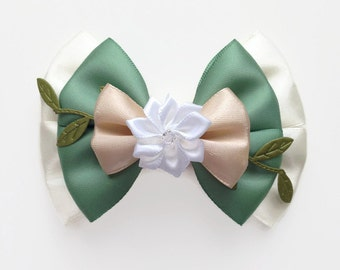 Princess Tiana Disney Character Inspired Hair Bow from Princess & The Frog