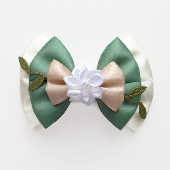Princess Tiana Hair: Princess Tiana Disney Character Inspired Hair Bow From