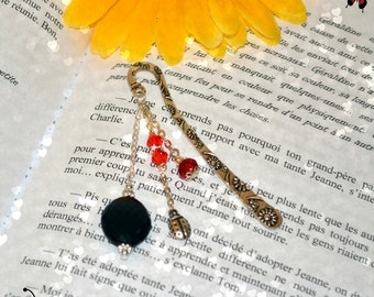 Ladybug crystal bookmark