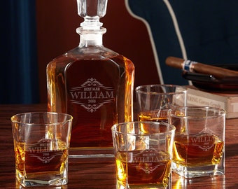 Oakmont Personalized Decanter Set with Whiskey by HomeWetBar