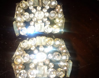pair Crystal jewel cuffs made in france