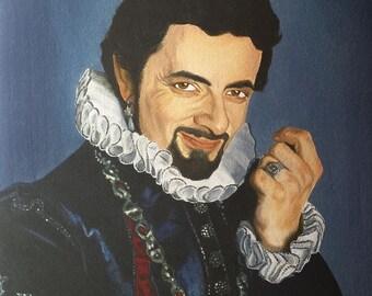Edmund Blackadder original oil painting - prints