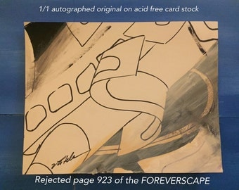 Original reject of page 923 of the FOREVERSCAPE