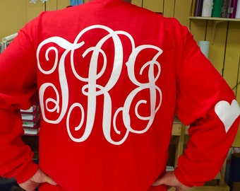 Valentines Day long sleeve with heart elbow patches