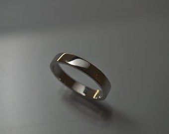 Sterling Silver Flat 4 mm Wedding Band Solid 925 Silver Stackable Mens Ring Sizes 9 to 16