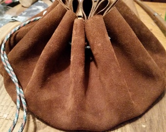 6 inch Tinder leather Suede Pouch