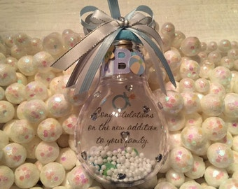 Baby Ornament, Welcome Home Baby, It's a Boy, It's a Girl, Baby Gift, Baby Shower favors,