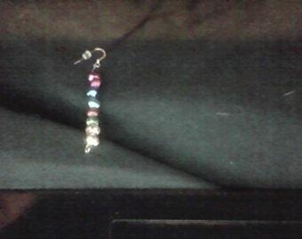Metallic beaded earrings