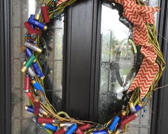 Beautiful multi color Shotgun Shell Wreath- 18 inches