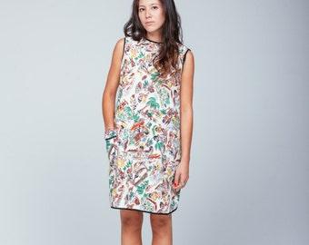 Vintage tropical print dress