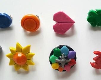 First Gen Pokemon Gym Badges / Pokemon Cosplay Jewelry