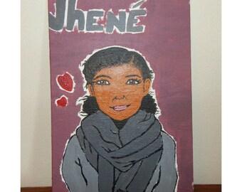 Jhene Aiko painting