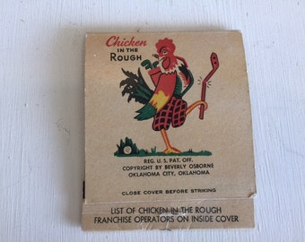 Vintage 1950s Beverly's Chicken in the Rough Large Matchbook, unused