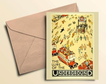 London Underground Note Cards - Boxed Set of 10 With Envelopes