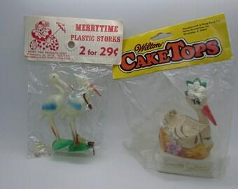 Plastic stork etsy - Wilton baby shower cake toppers ...