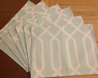 Modern Mint Geo Placemat - Set of 6