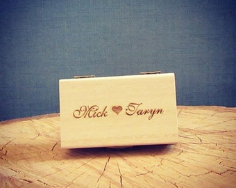 Personalised, wooden ring box (Rectangle) vintage wedding accessories