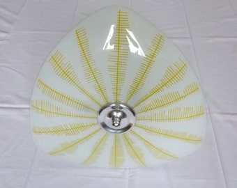 Mid century glass ceiling lamp, 1950