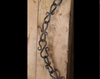 6 foot ornate blacksmiths chain