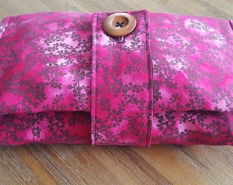 Nappy Wallet,Handmade,Nappy and Wipes, Diaper, Pink and Purple, Cherry Blossom, A H Baby Boutique, Nappy Clutch, Purse