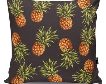 Decoartive pillow Pineapples black