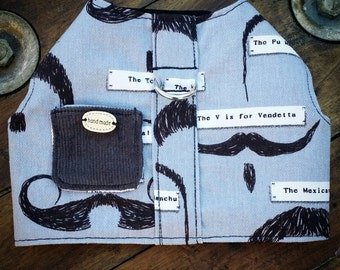 Bespoke Moustache Dog Harness, Dog Vest, Pet Accessories, Chihuahua Harness, Pet Harness