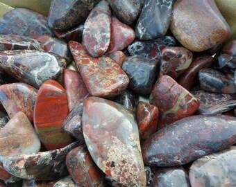 1/2 lb Brecciated Red Jasper Tumbled Stones