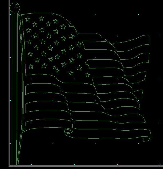 Usa Flag Dxf File Cnc Plasma Laser Waterjet Router