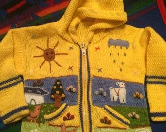 Childs handmade in Peru sweator