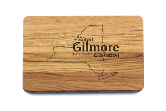 Unique Wedding Gifts Nyc : New York Cutting Board Wedding Gift (Any State), Personalized Custom ...