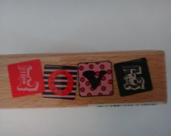 Free Shipping!  Studio G Hampton Art LOVE Wooden Rubber Stamp for Scrapbooking and Card Making - I1