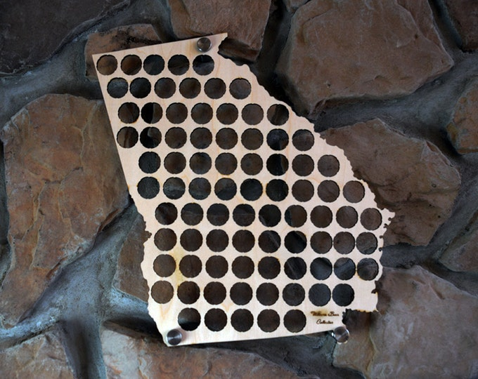 Personalized Georgia Beer Cap Map Perfect For Georgia Pubs Man Caves and Groomsman Gifts