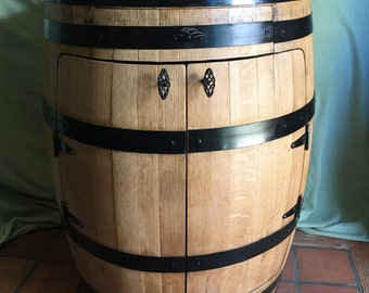 Full Barrel Liquor Cabinet, Bistro Wine Barrel