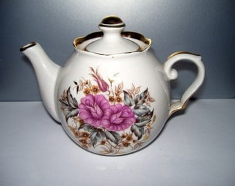 Vintage Porcelain Teapot Retro Home Decor Soviet Porcelain